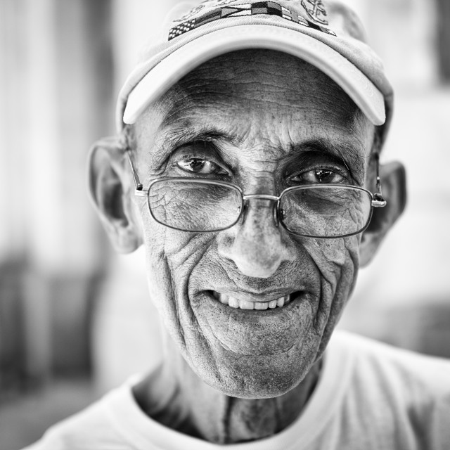 """Portrait of older Cuban man"" stock image"