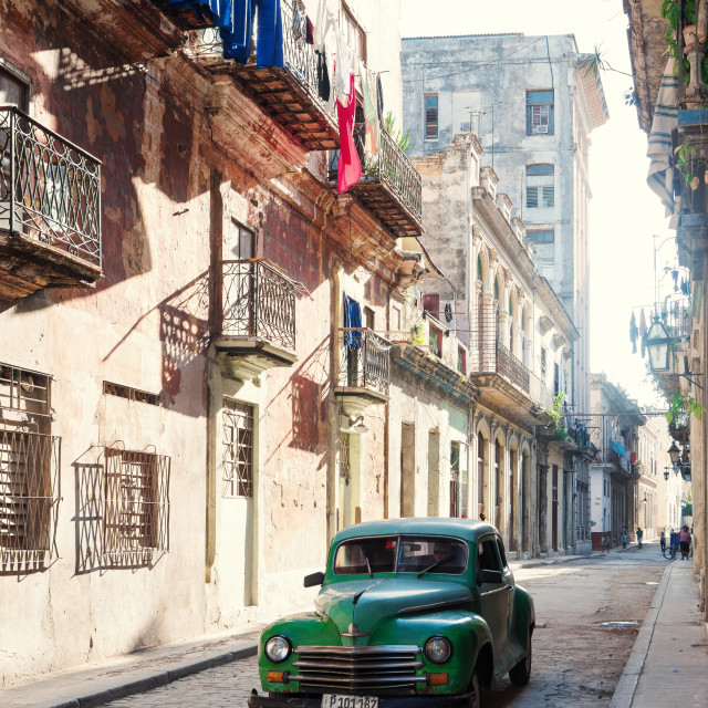 """Classic Havana picture from Cuba"" stock image"
