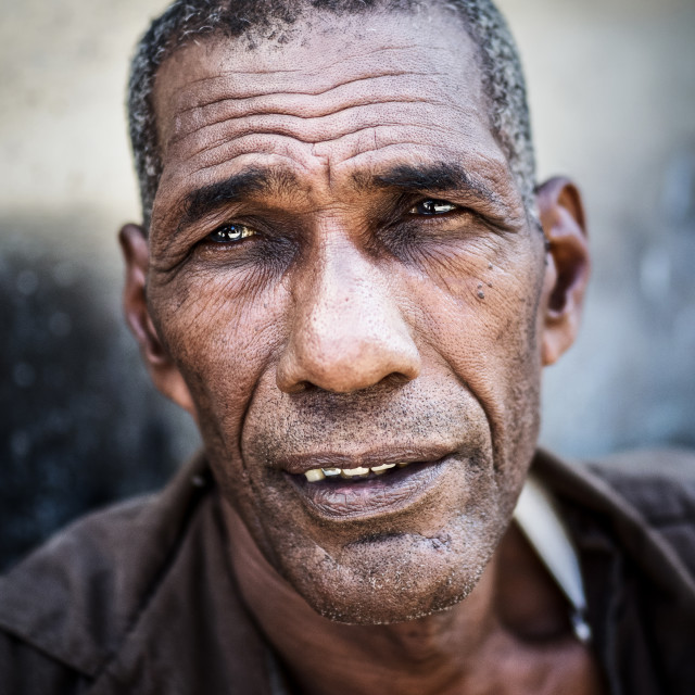 """Portrait of Cuban man"" stock image"