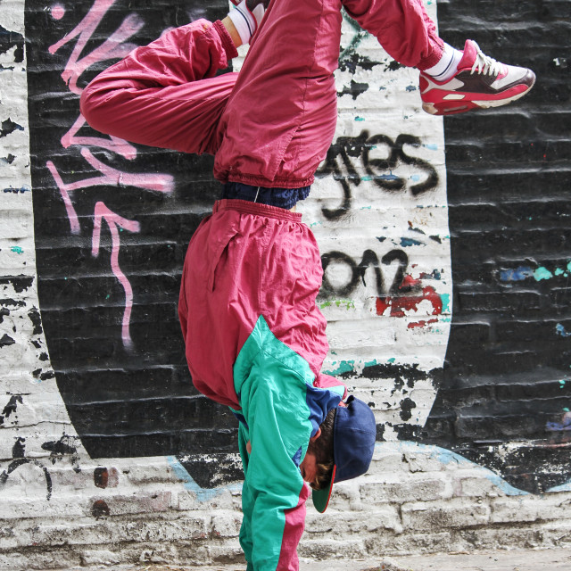 """Vertical breakdance"" stock image"