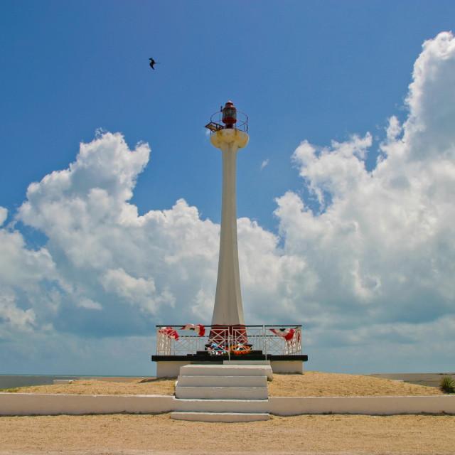"""Baron Bliss light, Belize City"" stock image"