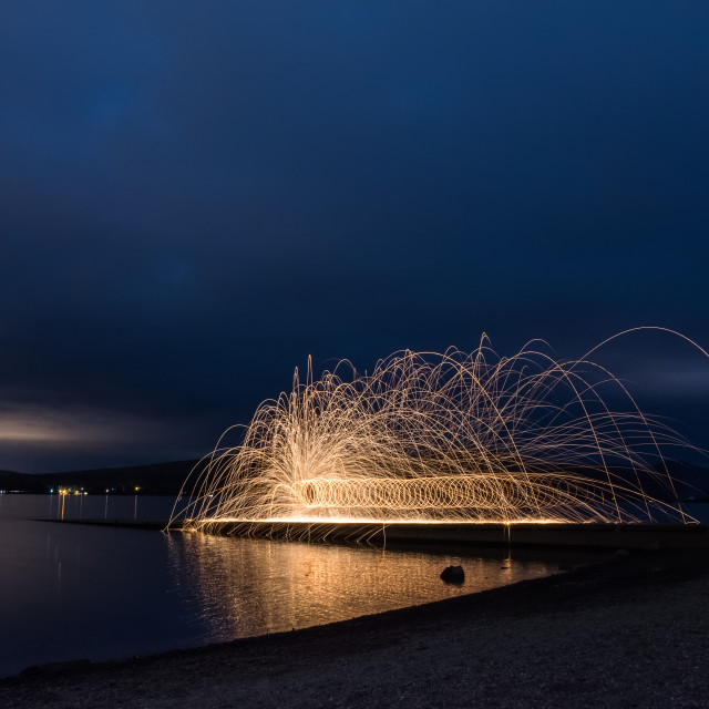 """Wirewool Spinning"" stock image"