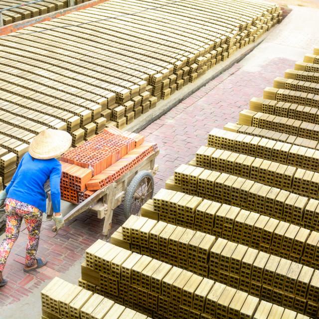 """Brick Worker"" stock image"