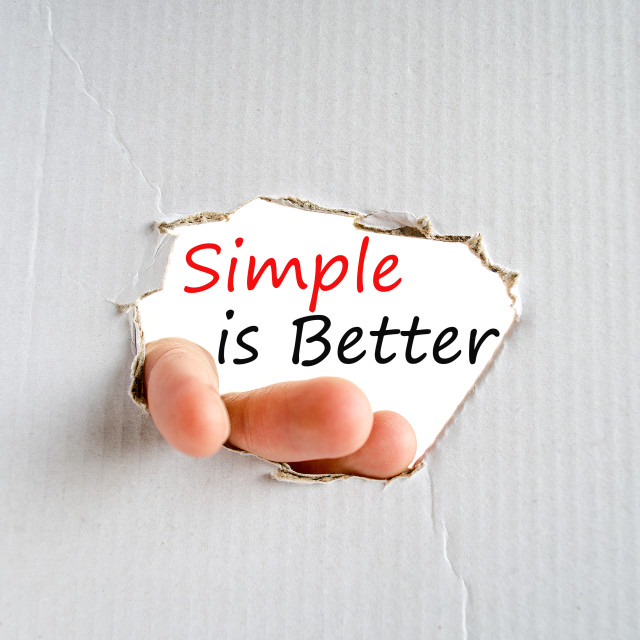 """Simple is Better Concept"" stock image"