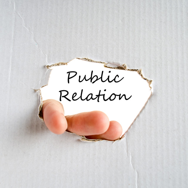 """Public relation concept"" stock image"