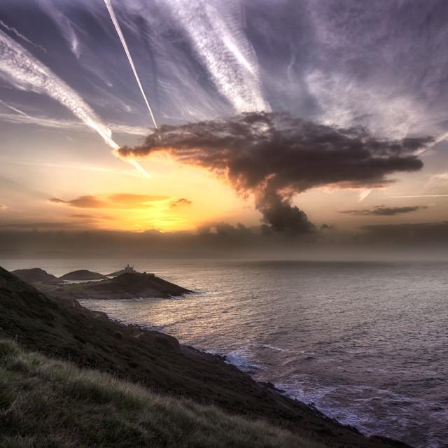 """""""Swansea mushroom cloud sunrise"""" stock image"""