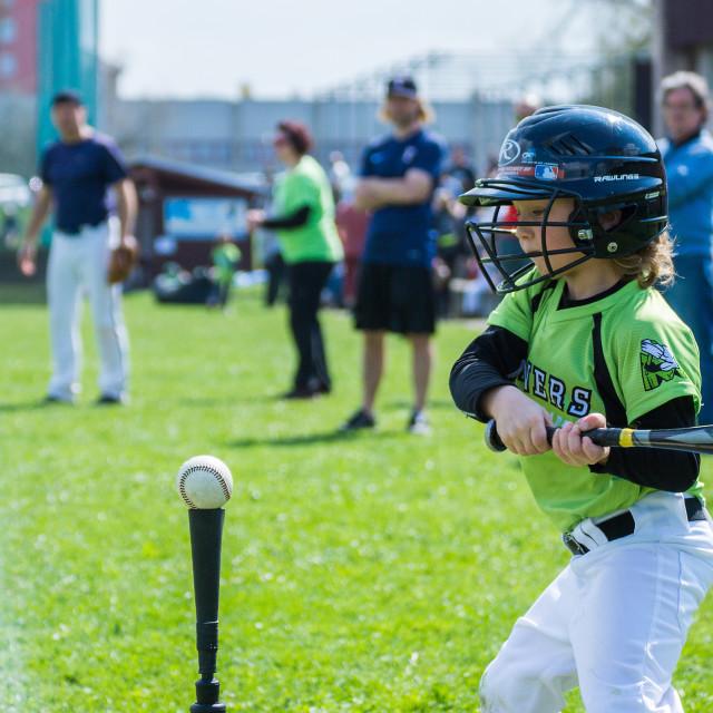 """Little baseball player 2"" stock image"