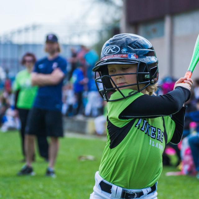 """Little baseball player 1"" stock image"