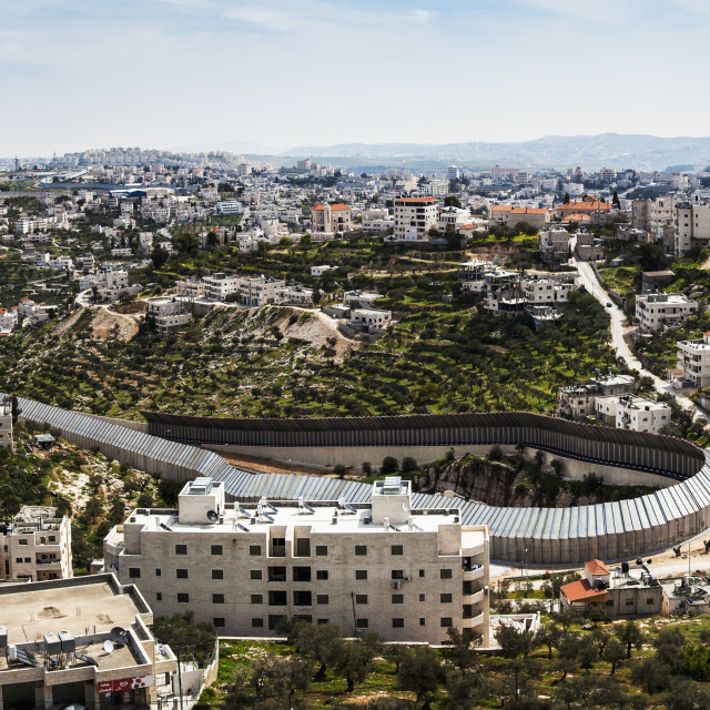 """""""Circular Protection Wall Surrounding A Tunnel That Goes From Israel Under..."""" stock image"""