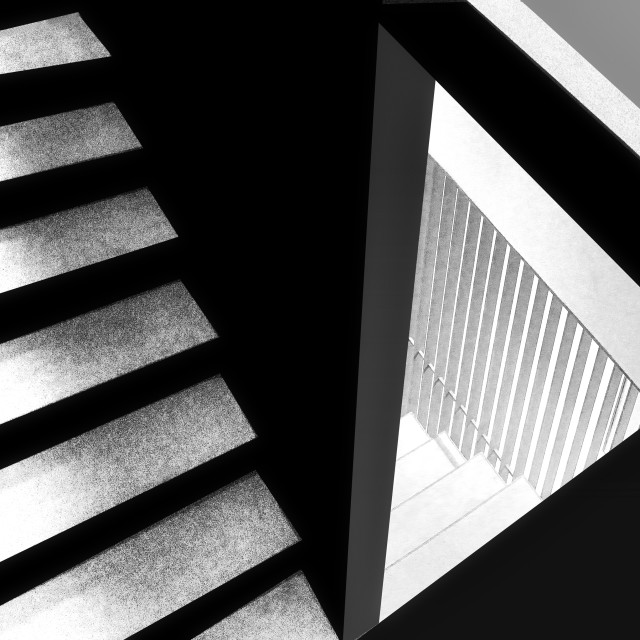 """""""Steps in black and white"""" stock image"""