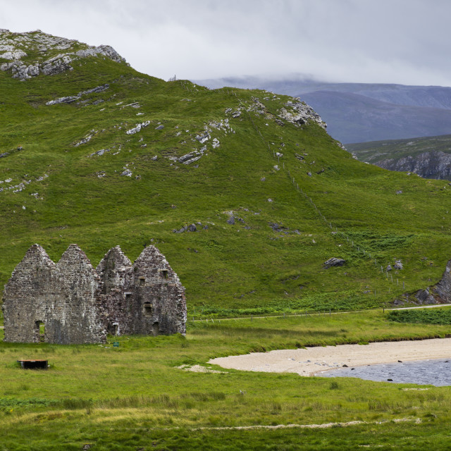 """Ruins Of Calda House; Scotland"" stock image"