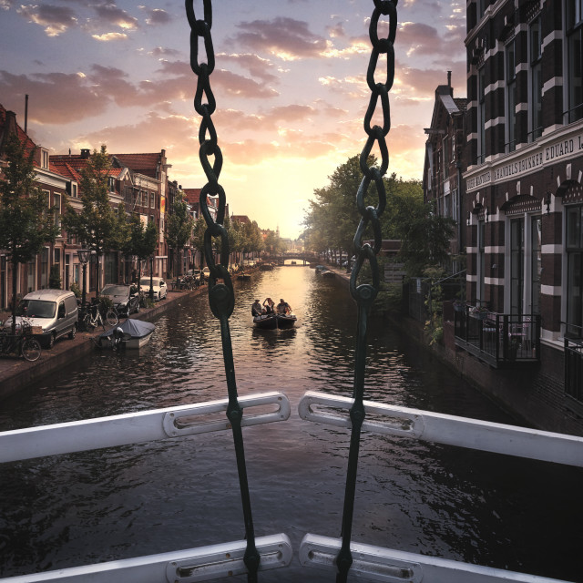 """Sundown in Leiden Holland"" stock image"