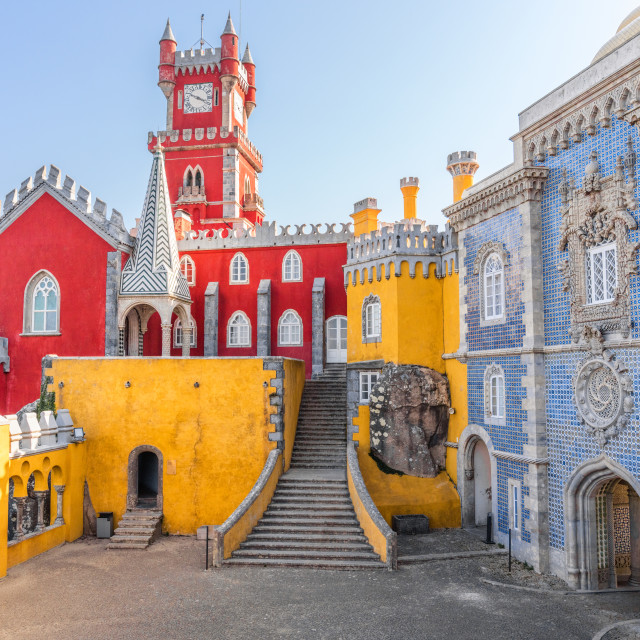 """Pena Palace in Sintra, Portugal"" stock image"