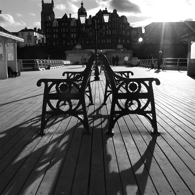 """Cromer Pier Shadows"" stock image"
