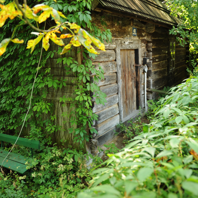 """wooden hut"" stock image"
