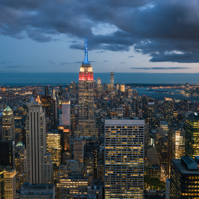 """""""New York city downtown"""" stock image"""