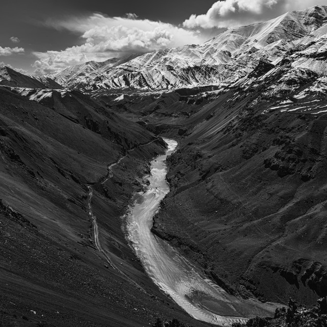 """The Grand Himalayan Landscape - 7"" stock image"