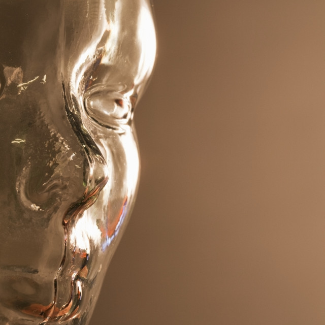 """Glass Image Of A Face"" stock image"