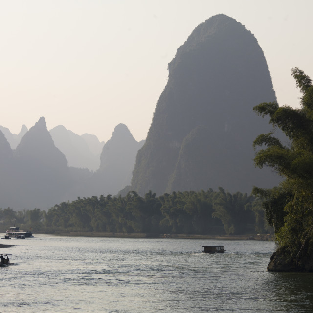 """Li River, Yangshuo, Guilin, Guangxi Province, China"" stock image"