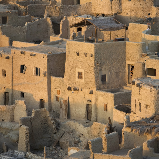 """Siwa Oasis, Egypt; The 13Th Century Mud-Brick Fortress Of Shali"" stock image"