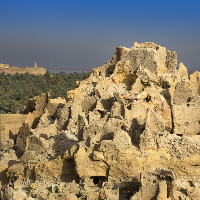 """The Temple Of The Oracle, Shali Fortress, Siwa Town, Egypt"" stock image"