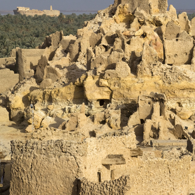 """Shali Fortress, Siwa Town, Egypt, Africa; The Temple Of The Oracle In The..."" stock image"