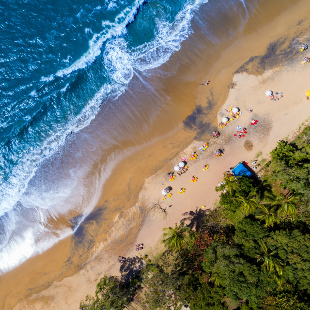 """Top View of a Tropical Beach"" stock image"
