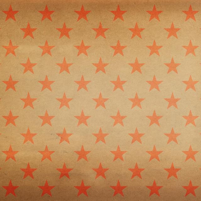 """Vintage red stars pattern"" stock image"