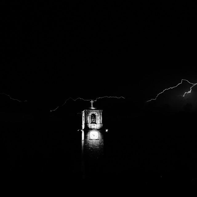 """Lightning in the dark"" stock image"