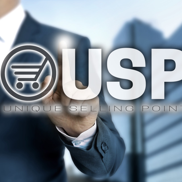 """""""USP touchscreen is operated by businessman"""" stock image"""