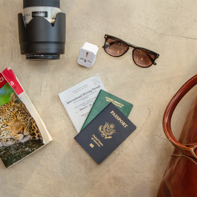 """Travel items"" stock image"