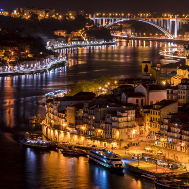 """Douro and the lights"" stock image"