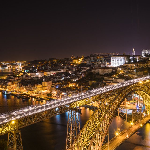 """Porto by night"" stock image"