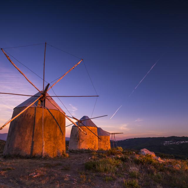 """Gavinhos Windmills I"" stock image"