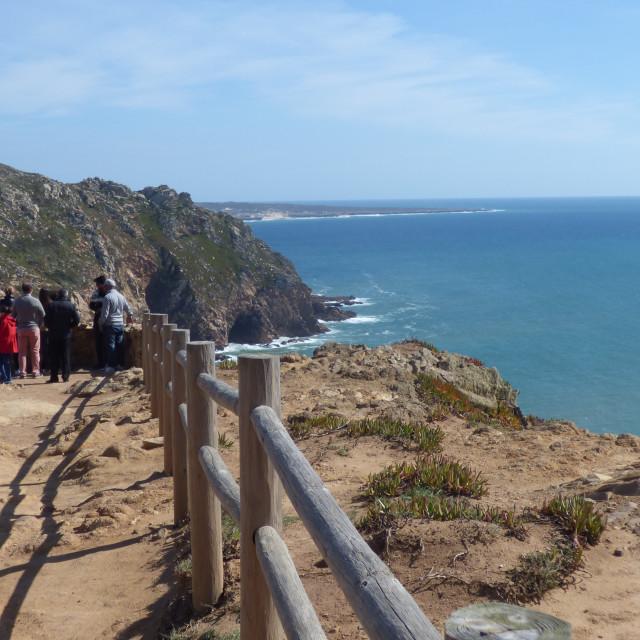 """""""Landscape lookout Cabo da Roca Portugal"""" stock image"""