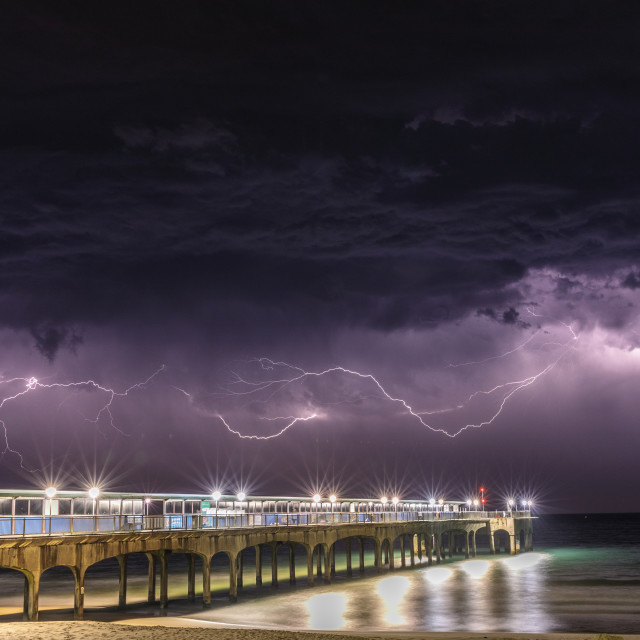 """Lightning - Bournemouth"" stock image"