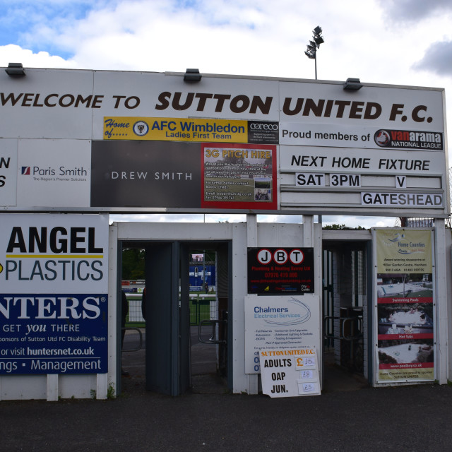 """Sutton United"" stock image"