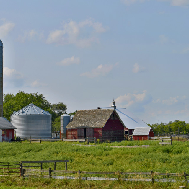 """Modern Farm in Nebraska"" stock image"