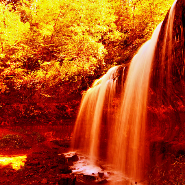 """Red Hell Waterfall"" stock image"
