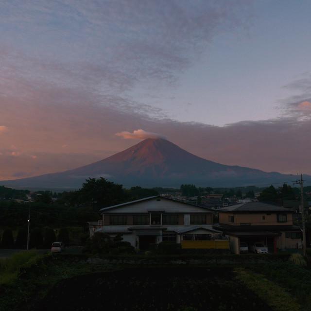 """Mt Fuji at sunrise"" stock image"