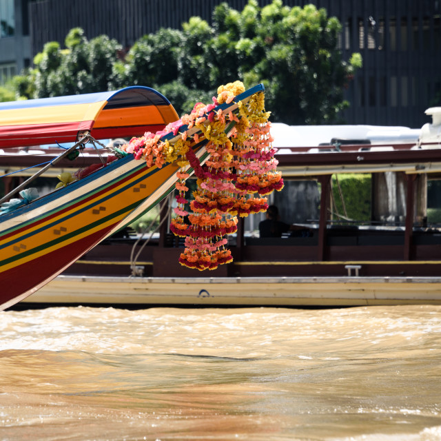 """Traditional Long Boat Bangkok"" stock image"
