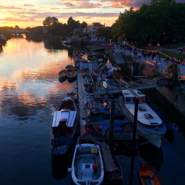 """Richmond sunset"" stock image"