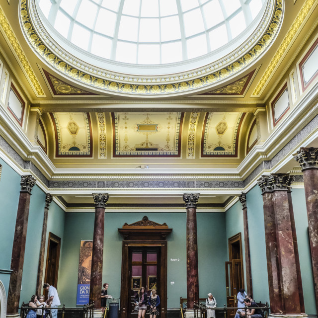 """Interior of National Gallery London"" stock image"