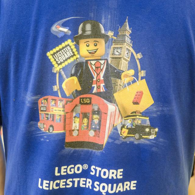"""Lego Ad on Tee Shirt"" stock image"