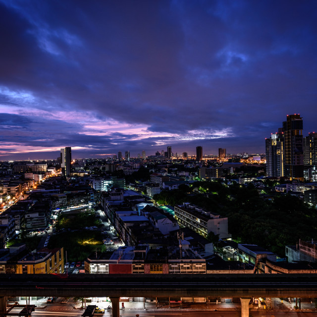 """Bangkok city skyline"" stock image"