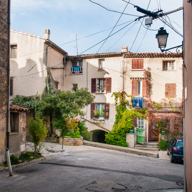 """Street in Provencal Village"" stock image"