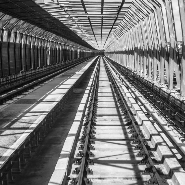 """Railroad BW VI"" stock image"