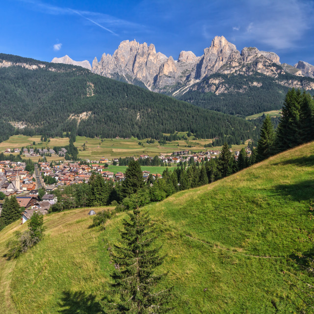 """Pozza in Val di Fassa"" stock image"