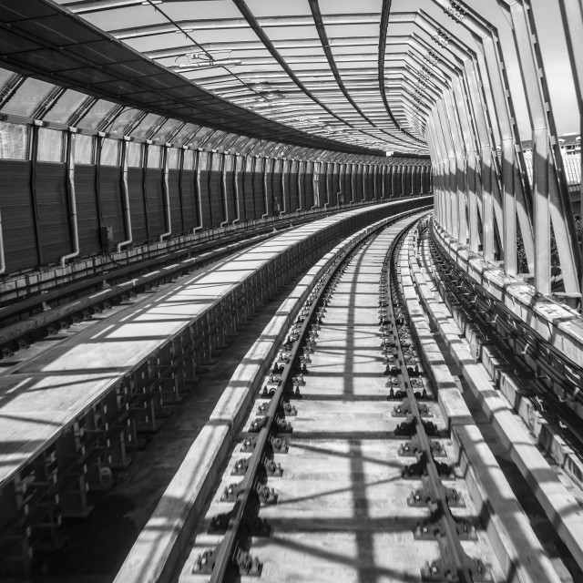 """Railroad BW IV"" stock image"