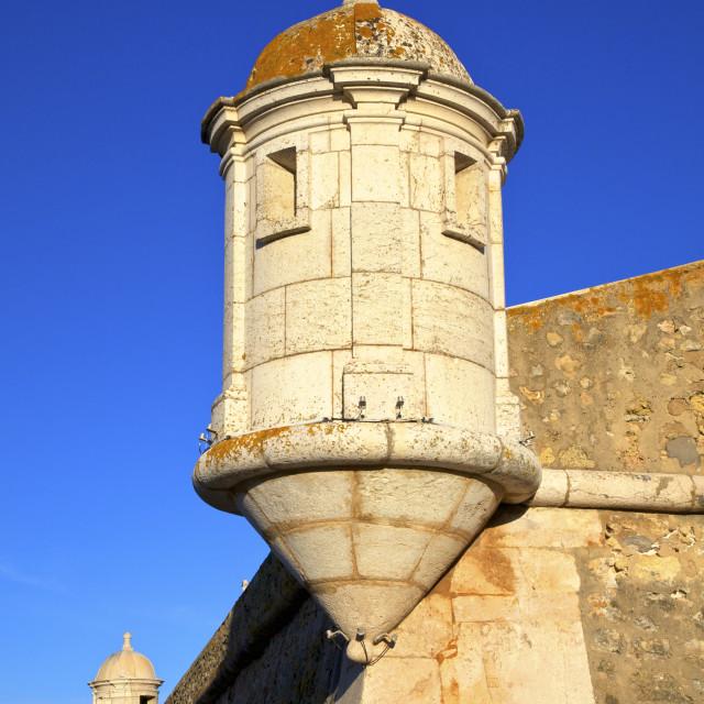 """""""Fortaleza da Ponta da Bandeira, Lagos, Western Algarve, Algarve, Portugal,..."""" stock image"""